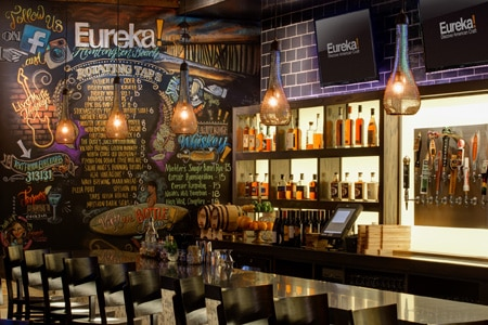 Dining room at Eureka!, Huntington Beach, CA