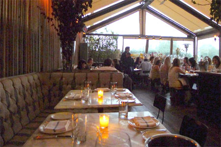 Dining Room at EVELEIGH, West Hollywood, CA
