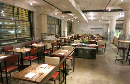 Dining room at The Factory Kitchen, Los Angeles, CA