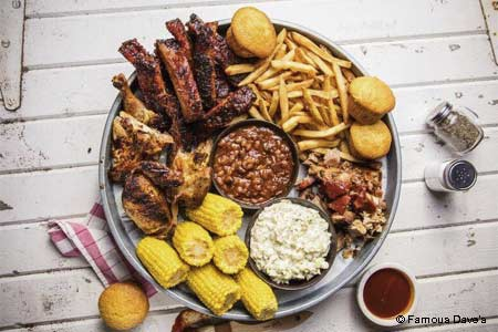 Famous Dave's serves some of the best BBQ in Minneapolis