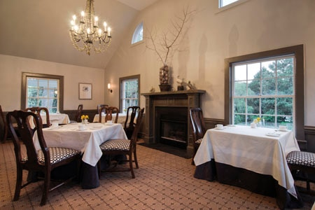 Dining room at The Fearrington House Restaurant, Pittsboro, NC