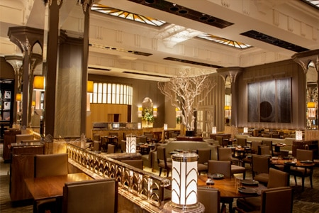 The dining room of Fera at Claridge's, one of GAYOT's Top 10 Modern British Restaurants