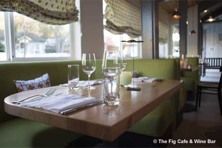 Dining Room at The Fig Cafe & Wine Bar, Glen Ellen, CA