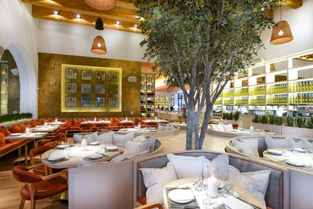 Dining Room at Fig & Olive, Newport Beach, CA