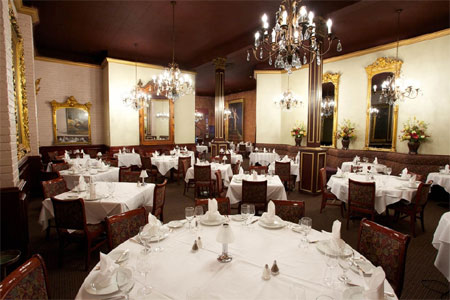 Dining Room at The Firehouse Restaurant, Sacramento, CA