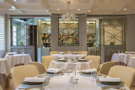 Dining room at The Five Fields, London, UK