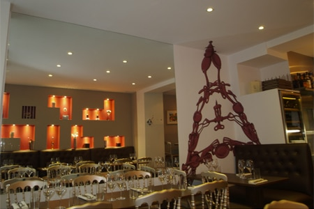 Dining Room at FL Restaurant, Paris,