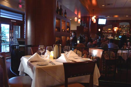 Dining room at Fleming's Prime Steakhouse & Wine Bar, Newport Beach, CA