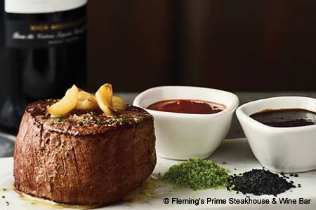 This high-end steakhouse chain appeals to wine enthusiasts with its extensive list.