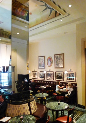 Dining room at Gaby Restaurant Francais, New York, NY