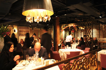 Dining room at George Restaurant, Toronto, canada