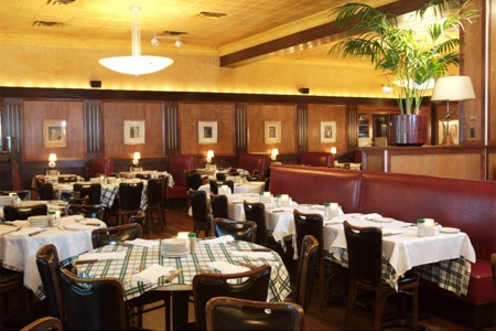 Dining room at Gibsons Bar & Steakhouse