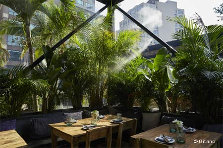 Gitano is a 24,000-square-foot seasonal outdoor restaurant and cocktail bar