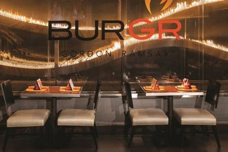 Dining room at Gordon Ramsay BurGR, Las Vegas, NV