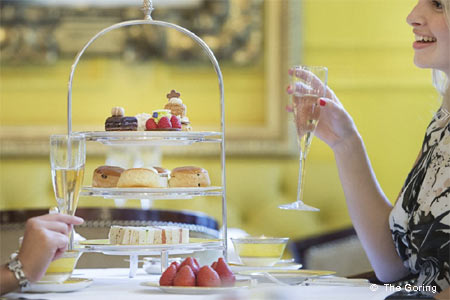 Tea in the lounge or on the terrace at The Goring --- what could be more English?