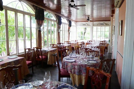 Dining room at Graycliff Restaurant, Nassau, bahamas