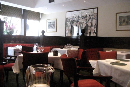 Dining room at Green's Restaurant & Oyster Bar, London, UK