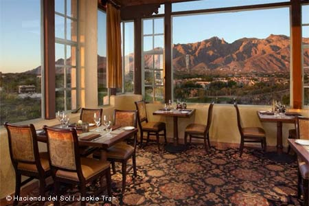 With its views, The Grill at Hacienda del Sol is one of GAYOT's Best Romantic Restaurants in Tucson