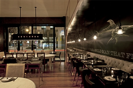 Dining room at GT Fish & Oyster, Chicago, IL