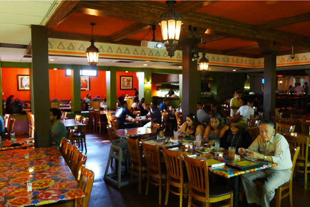 Dining room at Guelaguetza, Los Angeles, CA