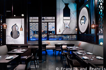 Dining room at Hakkasan, Las Vegas, NV