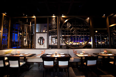 Dining room at Hakkasan, San Francisco, CA