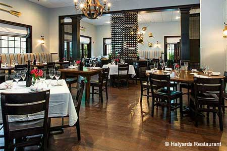 Dining Room at Halyards Restaurant, St. Simons Island, GA