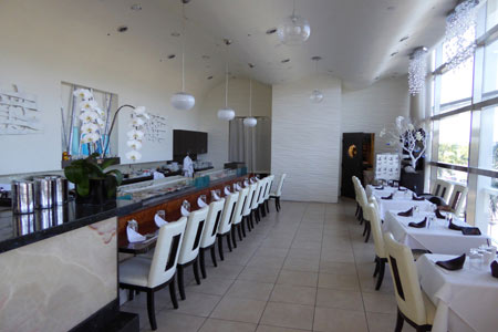 Dining room at Hamamori Restaurant & Sushi Bar, Costa Mesa, CA