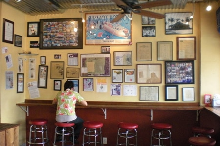 Dining room at Hank's Haute Dogs, Honolulu, HI