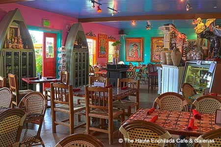 Dining Room at The Haute Enchilada Cafe & Galerias, Moss Landing, CA