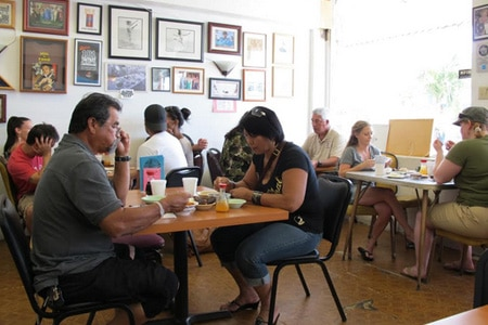 Dining room at Helena's Hawaiian Foods, Honolulu, HI