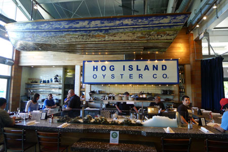 Dining room at Hog Island Oyster Co., Napa, CA