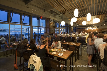 Enjoy fresh oysters at Hog Island Oyster Co., one of GAYOT's Best Seafood Restaurants in San Francisco