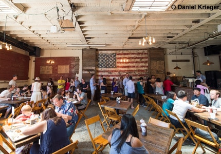 Enjoy some of LA's best barbecue at Hometown Bar-B-Que in Brooklyn