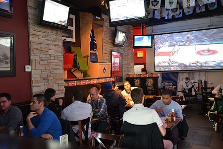 Dining Room at Hoops Sports Bar & Grill, Toronto, ON