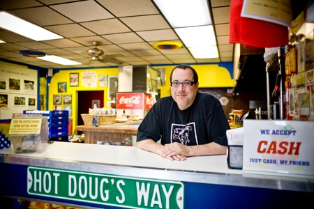 Dining room at Hot Doug's, Chicago, IL