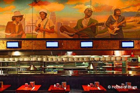 Dining Room at House of Blues Restaurant & Bar, Houston, TX