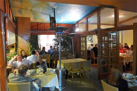 Dining room at Il Piccolo Verde, Los Angeles, CA