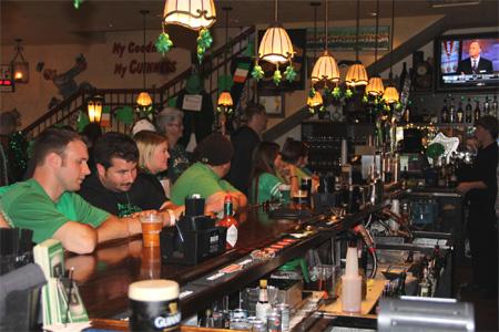 Celebrate St. Patrick's Day at an Irish pub
