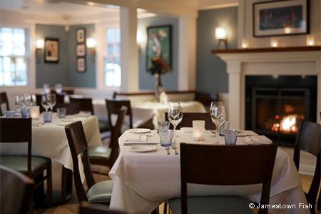 Dining Room at Jamestown Fish, Jamestown, RI