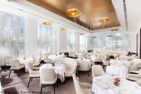 Dining room at Jean-Georges, New York, NY