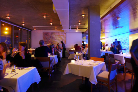 Dining room at JRDN Restaurant, San Diego, CA