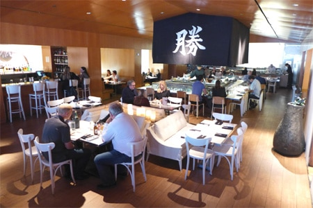 Dining room at Katsuya by Starck, Los Angeles, CA