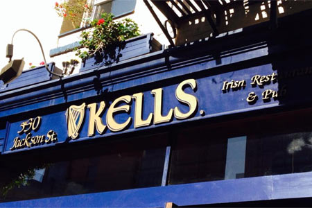 Kells Irish Restaurant & Pub, one of GAYOT's Best British & Irish Pubs in San Francisco / Bay Area