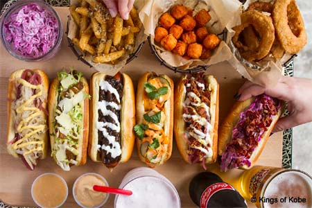 Enjoy some of NYC's best hot dogs at Kings of Kobe in New York