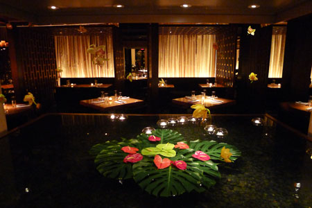 Dining room at Kittichai, New York, NY
