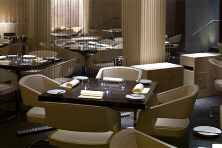Dining room at L2O, Chicago, IL