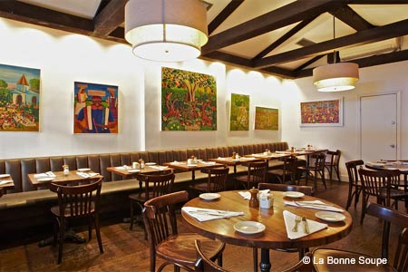 Dining Room at La Bonne Soupe, New York, NY