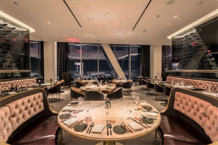 This French-inspired steakhouse soars above downtown LA, and offers high-level cuisine to match.