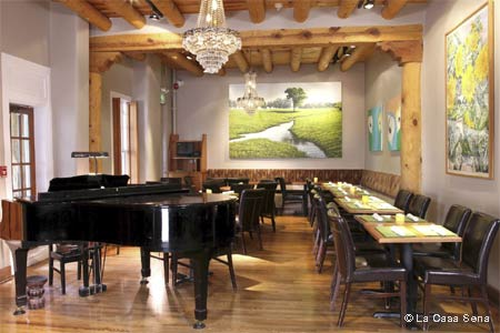 Dining Room at La Casa Sena, Santa Fe, NM